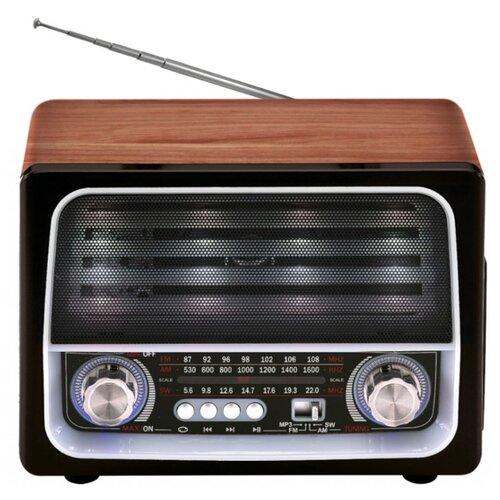 Радиоприемник Max MR-450 коричневый, черный