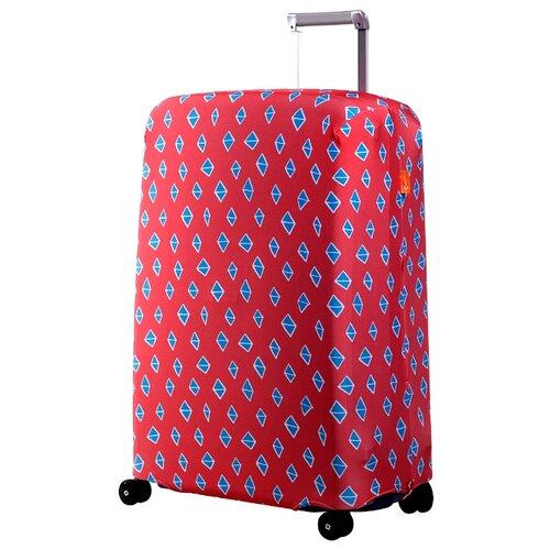 Чехол для чемодана ROUTEMARK «Ромбик в красном» ART.LEBEDEV SP240 M/L, красный