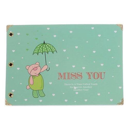 Фотоальбом Сима-ленд Медвежонок под зонтом (2803022), зеленый