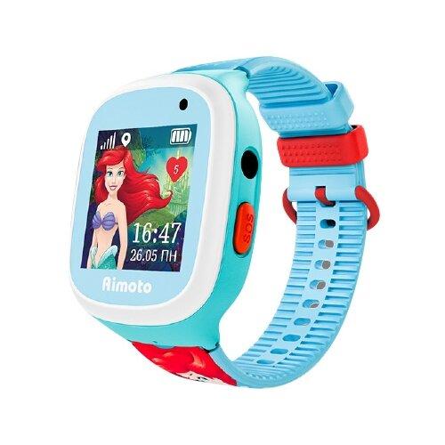 Часы Кнопка жизни Disney Принцесса Ариэль голубой/красныйУмные часы и браслеты<br>