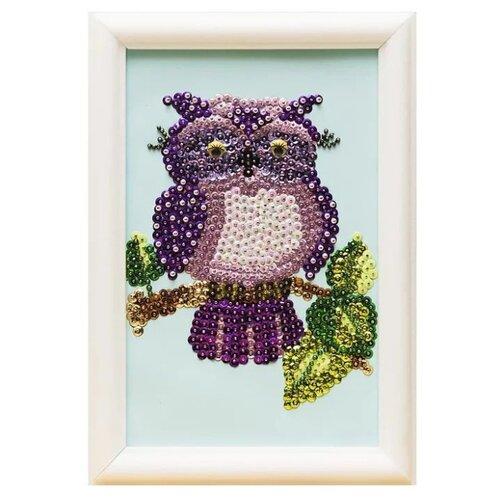 Купить Волшебная Мастерская Мозаика из пайеток Совушка М025, Картины из пайеток