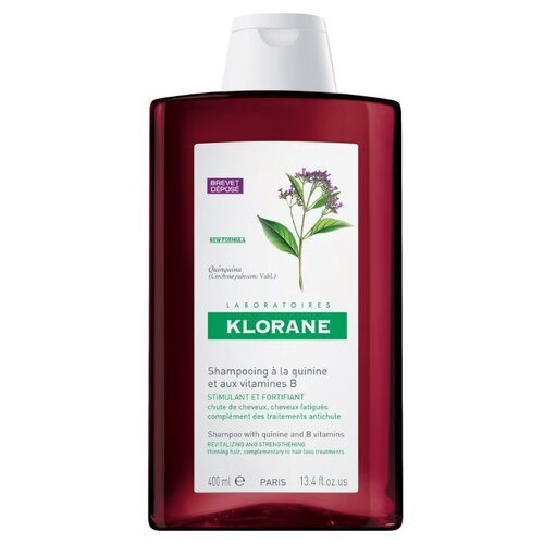 Klorane шампунь Strengthening & Revitalizing Shampoo with quinine and B vitamins 400 мл где купить шампунь klorane
