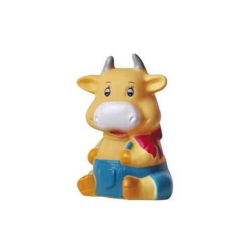 Игрушка для ванной Пома Бычок (3519) белый / синий / оранжевый игрушка для ванной пома игрушка с пищалкой бычок 1 шт 12 3519