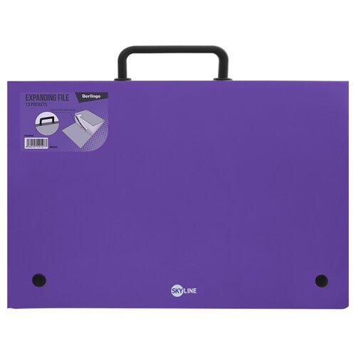 Купить Berlingo Папка-портфель 13 отделений Skyline А4 фиолетовый, Файлы и папки