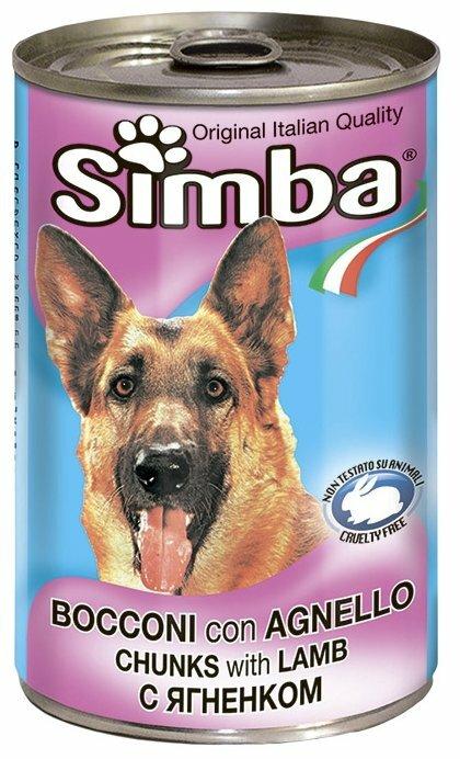 Корм для собак Simba Консервы Кусочки для собак Ягненок (1.23 кг) 3 шт.