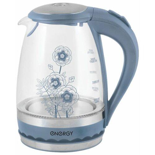 Чайник Energy E-279 (с рисунком), blue energy чайник energy e 226 1 7л диск белый