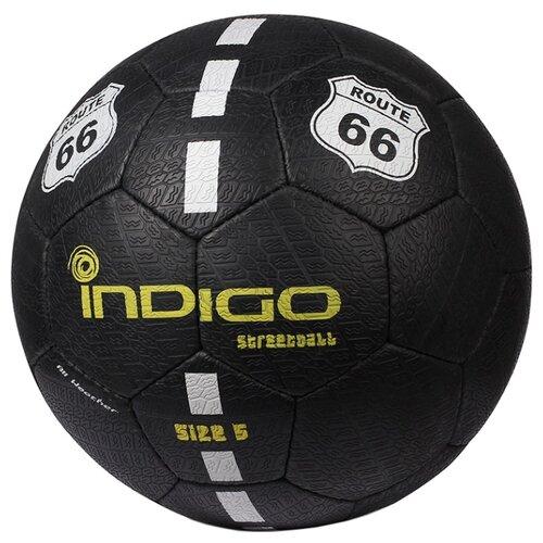 Футбольный мяч Indigo STREETBALL E03 черный 5 коляска 3 в 1 indigo indigo 18 special f sp 12 белая кожа