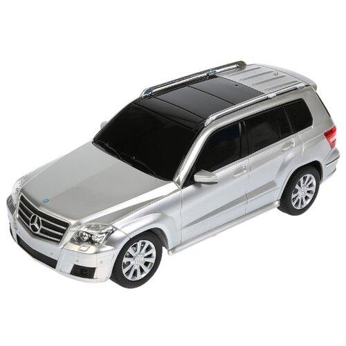 Легковой автомобиль Rastar Mercedes-Benz GLK (32100) 1:24 19 см серебристый