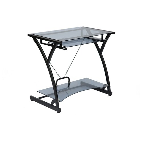 Компьютерный стол TetChair Dark Wader WRX-01, 82х50 см, цвет: стекло тонированное/черный каркас