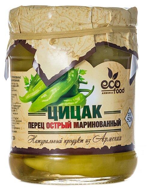 Цицак перец острый маринованный Ecofood стеклянная банка 520 г