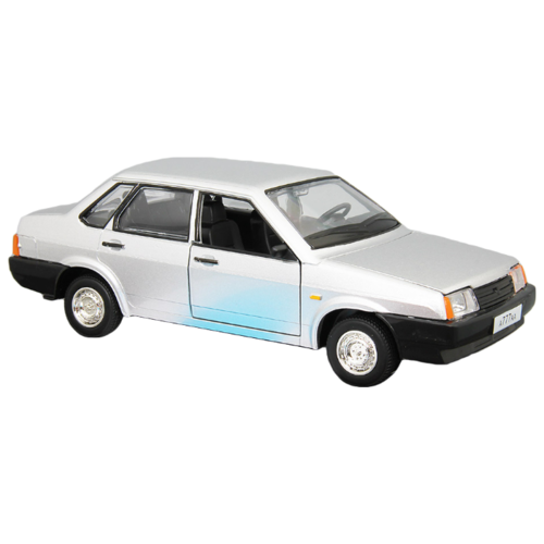 Легковой автомобиль Автопанорама Мировые легенды ВАЗ 21099 1:22 22 см серебристый