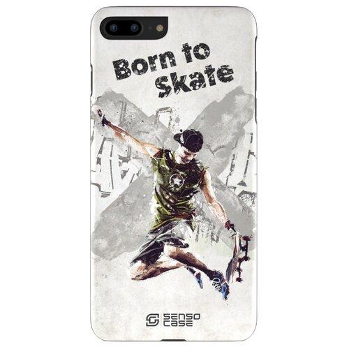 цена на Чехол Sensocase 100066 + защитное стекло для Apple iPhone 7 Plus/iPhone 8 Plus Скейтбординг