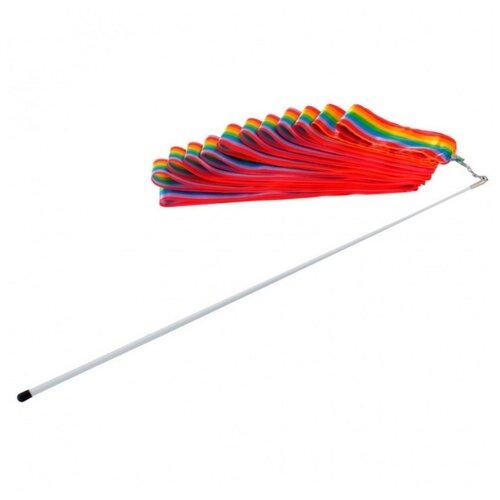 Палочка с лентой для художественной гимнастики Larsen AB227 радужный