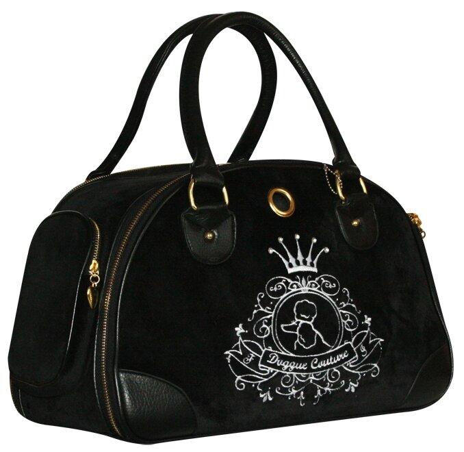 Переноска-сумка для кошек и собак Fauna International Allegra Silver 42х21х27 см черный/серебристый