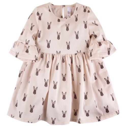 Купить Платье Bossa Nova размер 86, мокко заяц, Платья и юбки