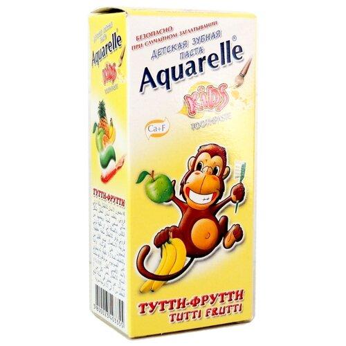 Зубная паста Aquarelle Kids Тутти-фрутти 3+, 50 млГигиена полости рта<br>