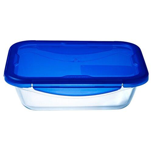 Форма для выпечки стеклянная Pyrex 281PG00ST (20х15х5 см) прозрачный/синий форма для выпечки pyrex