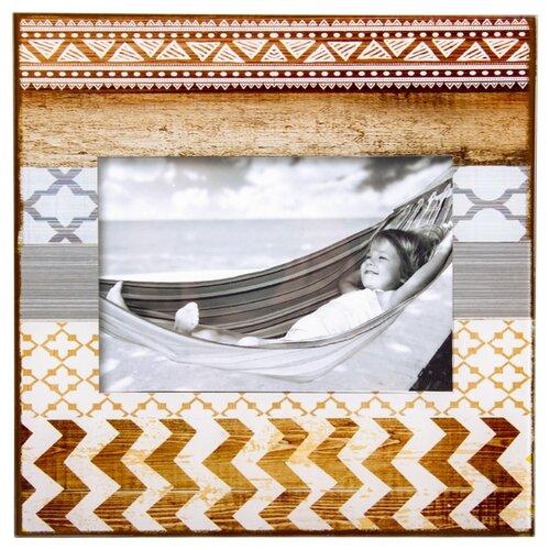 Фоторамка Русские подарки 78953 10 х 15 см бежевый/коричневый фигурка декоративная русские подарки свинка банкир 7 х 7 х 9 см