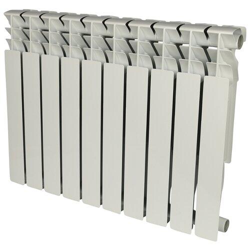 Радиатор секционный алюминий ROMMER Al Plus 500 x10 500/96 10 секций , подключение универсальное боковоеРадиаторы<br>
