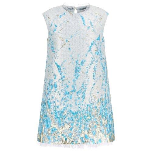 Платье Silver Spoon размер 116, молочный (с золотом и бирюзой) платье silver spoon размер 116 мятный с люрексом