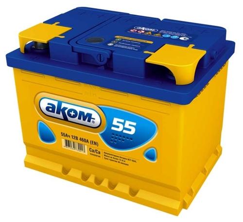 Характеристики аккумулятора Автомобильный аккумулятор Аком 55 на Яндекс.Маркете