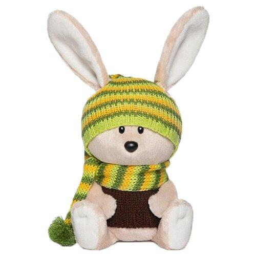 Фото - Мягкая игрушка Лесята Заяц Антоша в шапочке и свитере 15 см мягкая игрушка лесята ёжик игоша в свитере 15 см