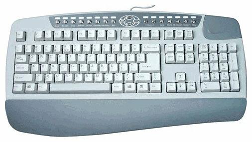 Клавиатура A4Tech KB-8-R White-Grey PS/2