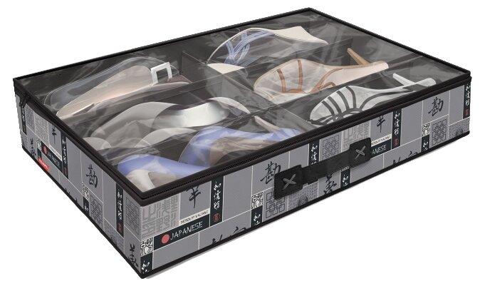 Valiant Кофр для хранения обуви S6 черный/серый