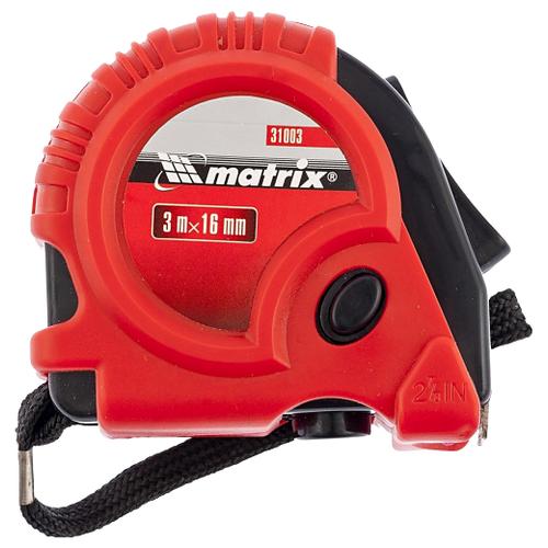 Измерительная рулетка matrix 31003 16 мм x 3 м рулетка matrix 31034 5мx19мм