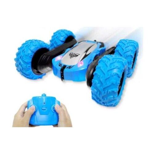 Купить Машинка-перевертыш JZL Double Sided Stunt Car (3388) 18 см синий, Радиоуправляемые игрушки