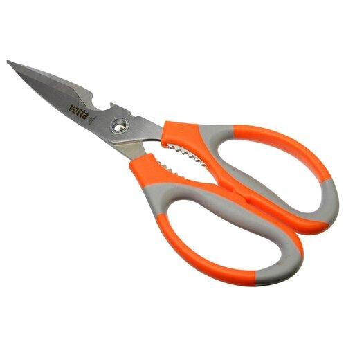 Ножницы Vetta универсальные с орехоколом и открывалкой 21 см оранжевый