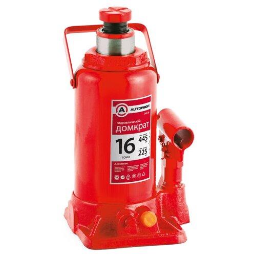 Домкрат бутылочный гидравлический AUTOPROFI DG-16 (16 т) красный