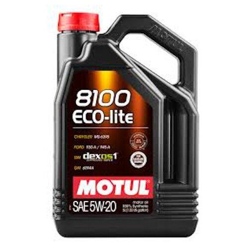 Моторное масло Motul 8100 Eco-lite 5W20 5 л моторное масло motul 8100 eco lite 0w 20 1 л