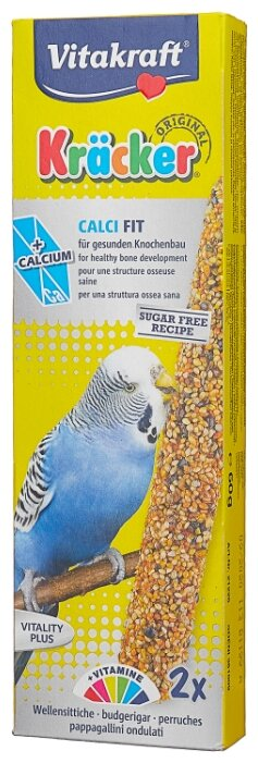 Лакомство для птиц Vitakraft Крекеры с медом и кальцием (21226)