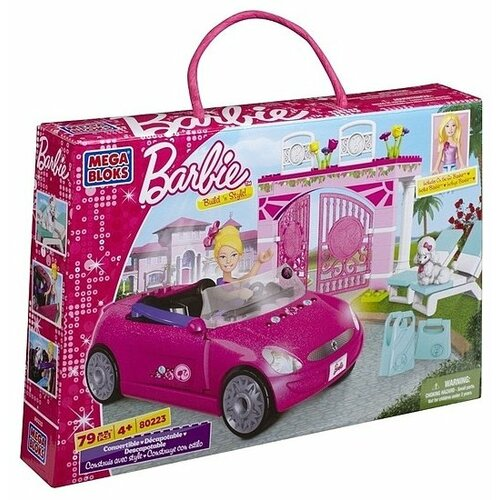 Конструктор Mega Bloks Barbie 80223 Кабриолет конструктор строй и учись mega bloks dxh33