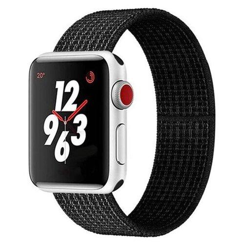Сменный ремешок Nuobi Nylon для Apple Watch, черный/белый 38/40 mm сменный ремешок nuobi для apple watch 38 40mm черный
