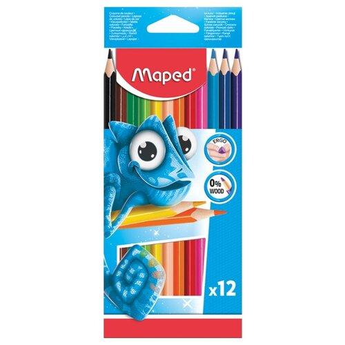 Купить Maped Цветные карандаши Pulse 12 цветов (862252)