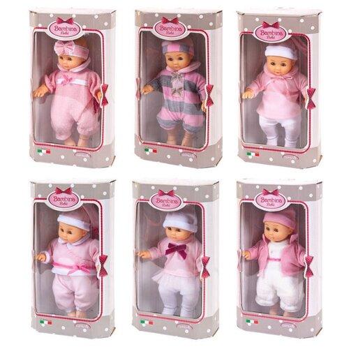 Пупс Dimian Bambolina Bambina Bebe, 20 см, BD1651-M37 куклы и одежда для кукол dimian кукла пупс bambina bebe 42 см
