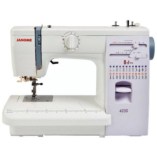 Швейная машина Janome 423S / 5522, бело-сиреневый швейная машина janome vs 54s бело сиреневый