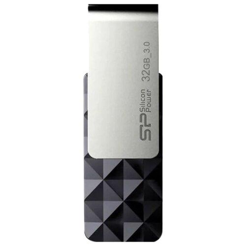 Флешка Silicon Power Blaze B30 32GB черный / серебристый silicon power xdrive z50 32gb серебристый