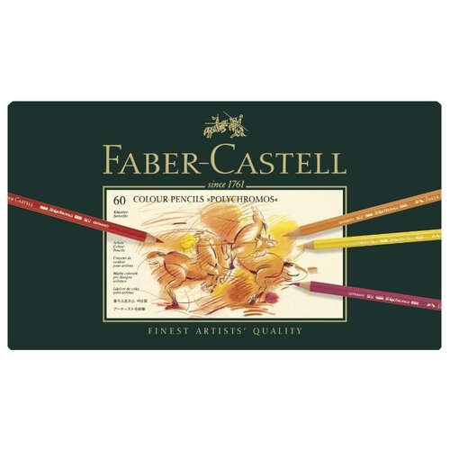 Faber-Castell Карандаши цветные Polychromos, 60 цветов (110060) faber castell цветные карандаши faber castell jumbo grip metallic 5 цветов