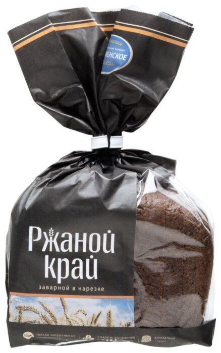 Хлеб Коломенский Ржаной Край заварной в нарезке, 300г