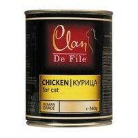 Clan De File консервы для кошек (с курицей) 340 гр. арт. 130.3.023
