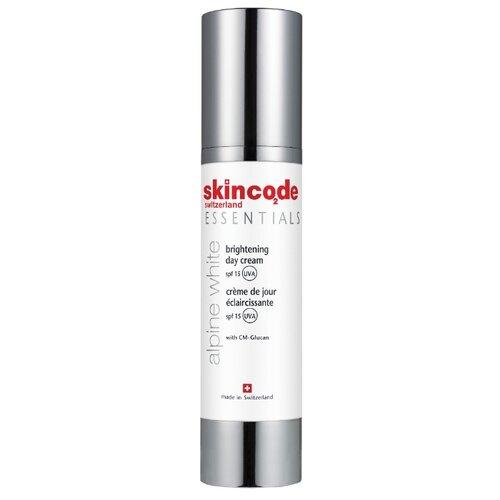 Skincode Essentials Alpine White Brightening day cream spf 15 Осветляющий дневной крем для лица SPF 15, 50 мл недорого