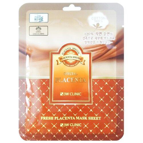 Купить 3W Clinic Тканевая маска с экстрактом плаценты, 23 мл