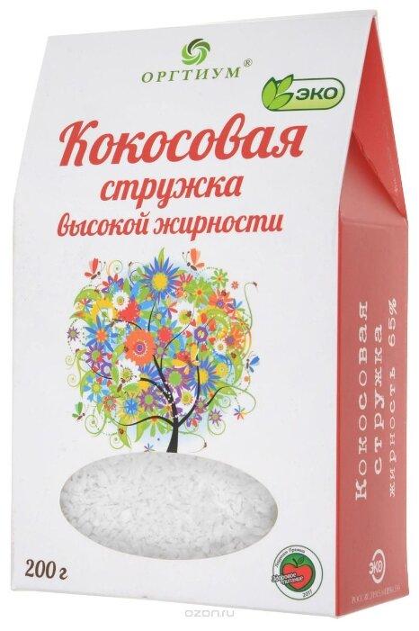 Оргтиум кокосовая стружка высокой жирности 200 г