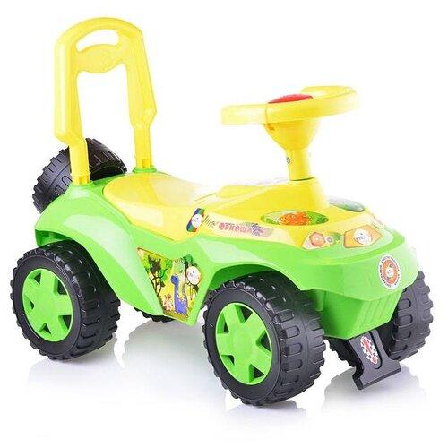 Купить Каталка-толокар Orion Toys Ориоша (198) со звуковыми эффектами зеленый/желтый, Каталки и качалки