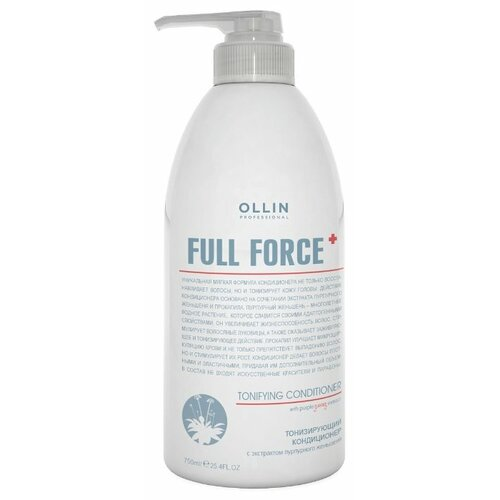 OLLIN Professional кондиционер Full Force Tonifying With Purple Ginseng Extract, 750 мл кондиционер ollin professional tonifying conditioner with purple ginseng extract 750 мл