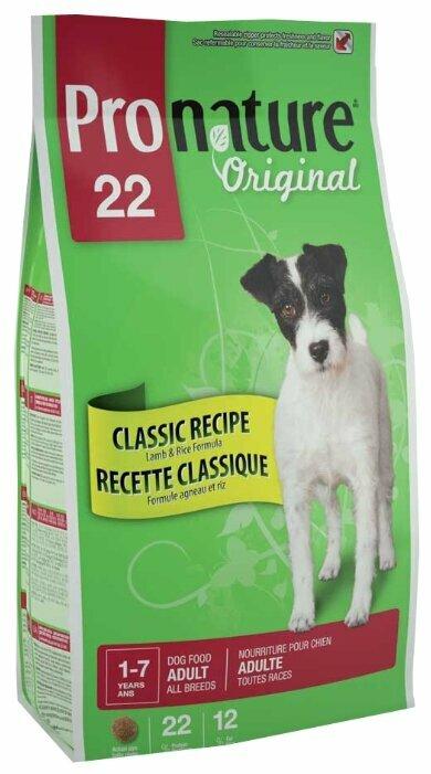 Корм для собак ProNature Original для здоровья кожи и шерсти, ягненок с рисом 13 кг