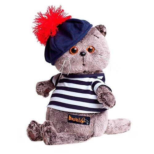 Мягкая игрушка Basik&Co Кот Басик в тельняшке и берете 25 см